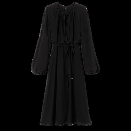 Collection Printemps/Été 2021 及膝連身裙, 黑色
