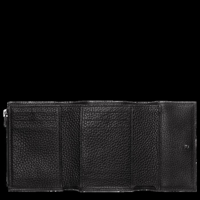Roseau 紧凑型钱包, 黑色
