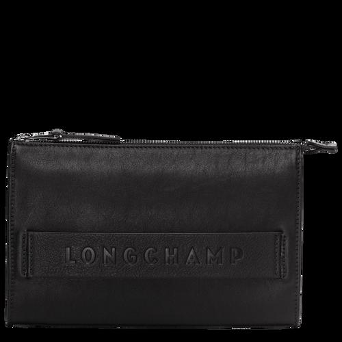 Longchamp 3D 高科技产品手拿包, 黑色