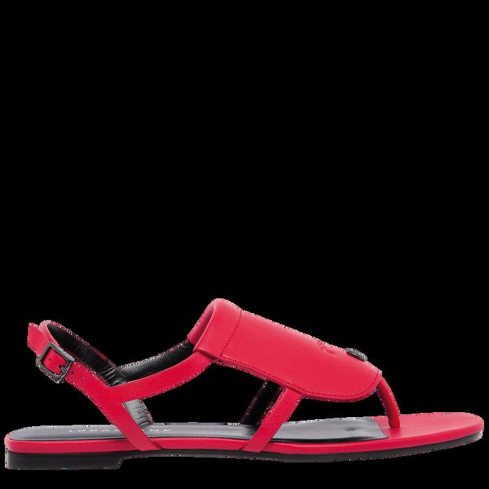 平底凉鞋, 红色 - 查看 1 3 - 放大