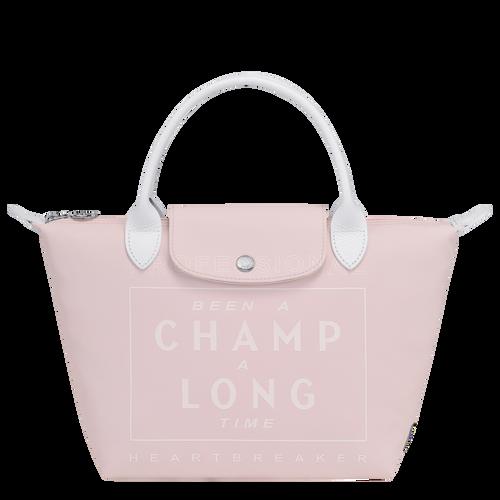 Longchamp x EU 手提包小号, Pink/Silver