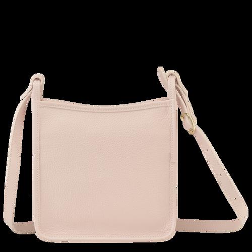 Le Foulonné 系列 小号拉链斜挎包, 浅粉色