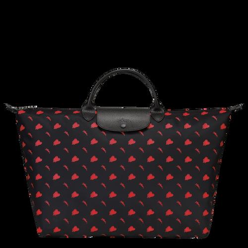 Longchamp x EU 旅行包大号, 黑色
