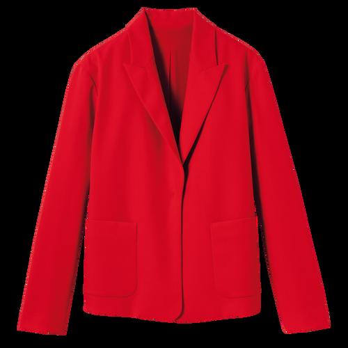 2021 秋冬系列 夹克, 唇红色