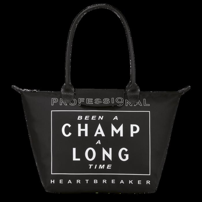Longchamp x EU 单肩包大号, 黑色