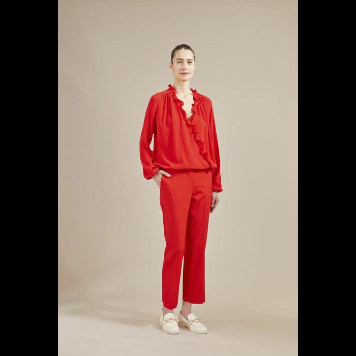 2021 秋冬系列 长裤, 唇红色