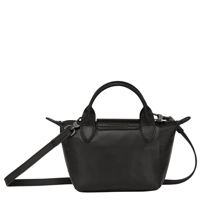 Longchamp x EU 手提包特小号, 黑色