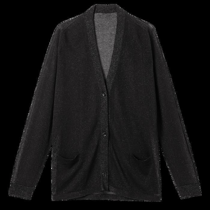 Collection Printemps/Été 2021 針織鈕釦外套, 黑色