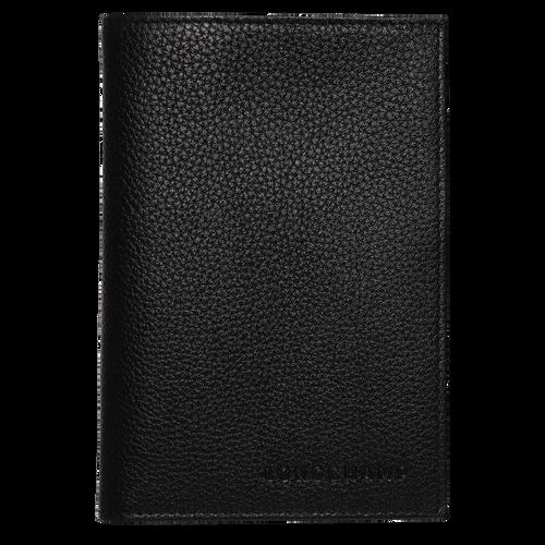 Le Foulonné 系列 护照套, 黑色