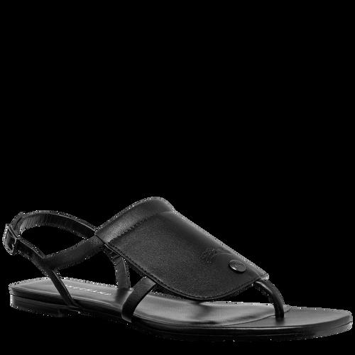 平底凉鞋, 黑色 - 查看 2 3 -