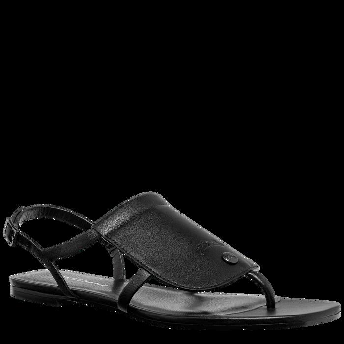 平底凉鞋, 黑色 - 查看 2 3 - 放大