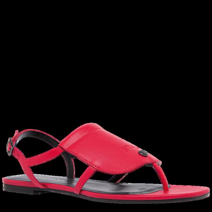 平底凉鞋, 红色 - 查看 2 3 - 放大
