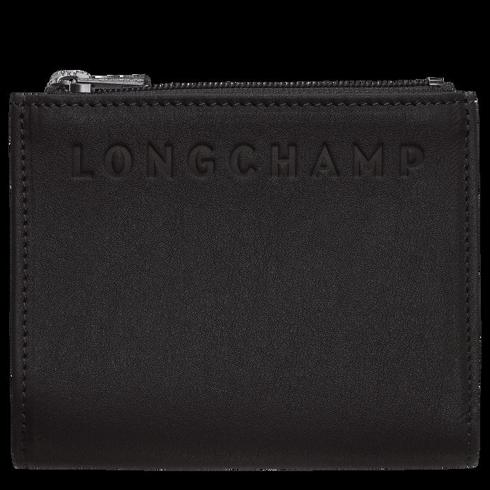 紧凑型钱包, 黑色/乌木色 - 查看 1 2 - 放大