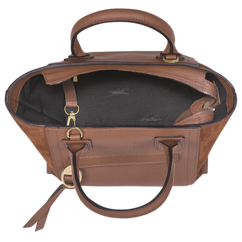 Mailbox Top handle bag S, Cognac