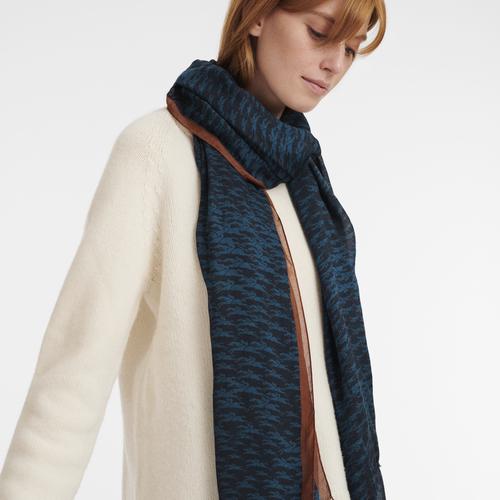 2021 秋冬系列 女士披肩, 海军蓝色