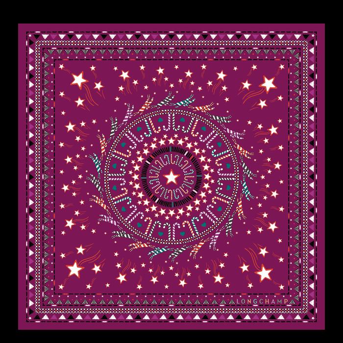 丝巾, 桃红色, hi-res - 查看1 1