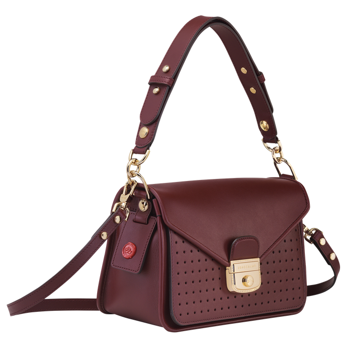 Mademoiselle Longchamp 斜揹袋 S, 酒紅色
