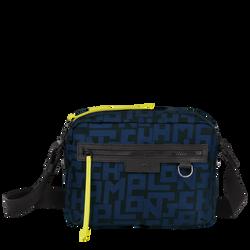 斜揹袋 M, 黑色/海軍藍色, hi-res