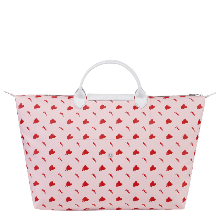 Longchamp x EU 旅行包大号, Pink/Silver
