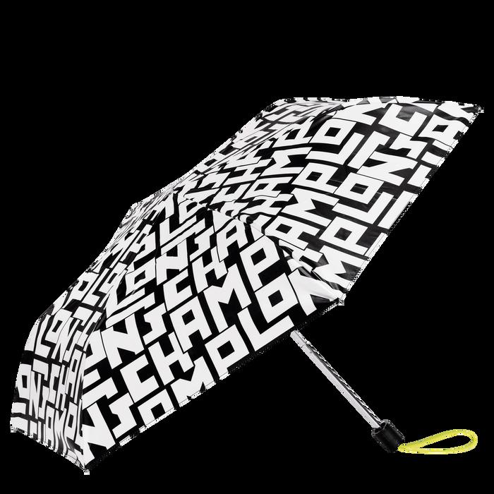 折叠雨伞, 黑/白色 - 查看 1 1 - 放大