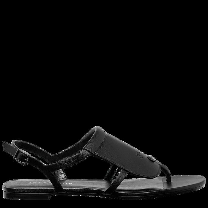 平底凉鞋, 黑色 - 查看 1 3 - 放大