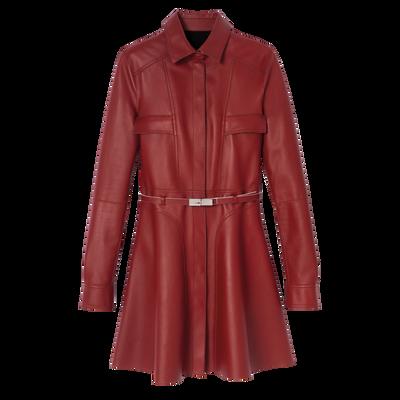中长款外套, 赤褐色, hi-res
