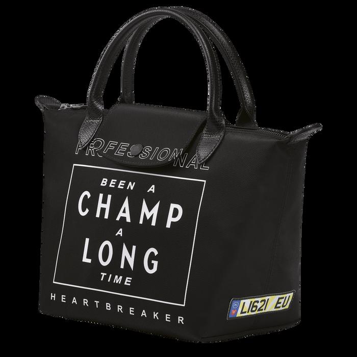 Longchamp x EU 手提包小号, 黑色
