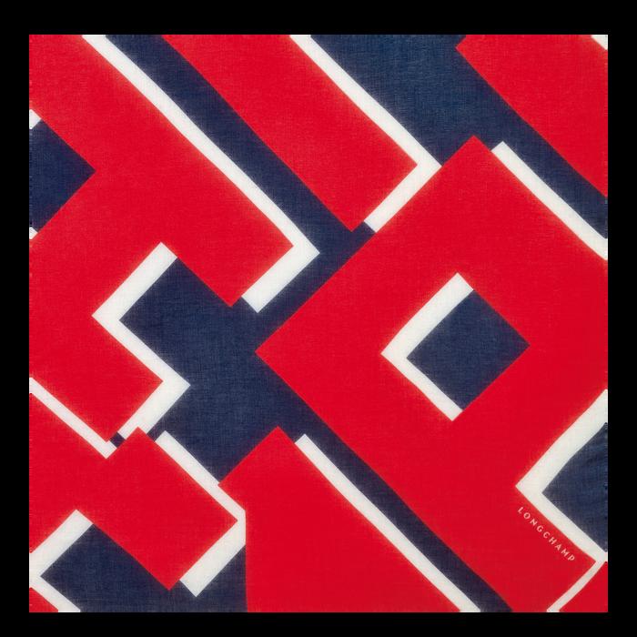 2021 年春夏系列 女士披肩, 海军蓝色/红色