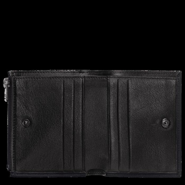 紧凑型钱包, 黑色/乌木色 - 查看 2 2 - 放大