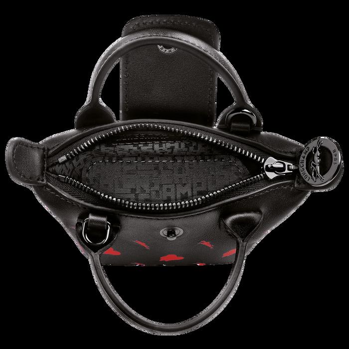 Longchamp x EU 斜挎包加小码, 黑色